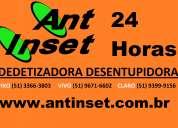 Antinset dedetizadora desentupidora 24hs porto alegre, canoas, cachoeirinha, capão da canoa