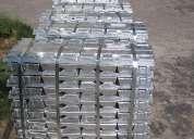 Lingotes de alumínio fundidos