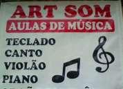 aulas de canto piano teclado e violao