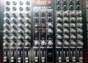 Vendo mesa de som - 8 canais + suporte
