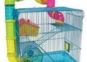 Vendo gaiola para hamster 3 andares com tubos tipo labirinto