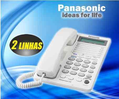 Telefone para 2 Linhas - Panasonic - Conferencia e Retenção de Chamadas