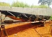 Vendo barco de 6m com motor e carretinha