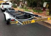 Carreta rodoviária lancha e barco