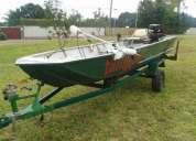 barco canoa traia, com carreta