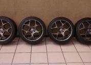 Excelente rodas tsw vx1 17 4x100 e pneus 215 40 17