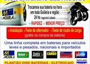 Oportunidade! baterias 24hs zetta 60ah 225,00 / moura 60ah 299,00