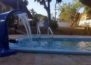 Excelente sitio com piscina e bar para eventos
