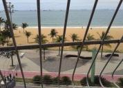 Excelente apartamento de frente para a praia da costa