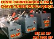 casa - fonte carregador p/ bateria de caminhão e moto