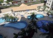 muito bom investimento locação apto 2 qtos, mobiliado, 8 adultos, 7 piscinas, sauna, academia,etc