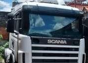Scania r 124 ga 420 4x2 ano 2001 frontal toco top de linha completo com ar condicionado