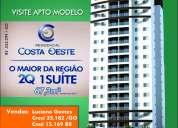Apartamento 2 quartos 1 suite condominio  residencial costa oeste