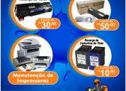Recarga de cartuchos , toners e manutenção de impressoras