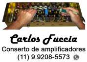 Conserto amplificadores musicais – carlos fuccia