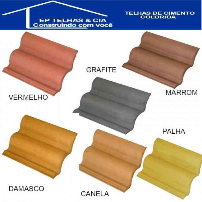 Telhas de Concreto Cores - Telhas de Concreto Coloridas