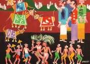 Telas de carnaval do artista naif aecio a venda com ajur sp