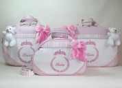 Kit bolsas maternidade personalizadas com nome do seu bebê (bordado)