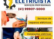 Curitibaeletricista.com.br - eletricista curitiba padrão copel -  instalação de poste de luz