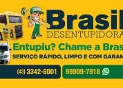 Desentupidora brasil 24 horas em londrina (43) 3342-6001 limpa fossa, caixa de gordura