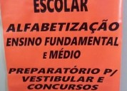 Reforço escolar de português e matemática