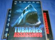 Dvd tubarões assassinos - novo lacrado - frete unico 7,00