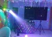 Dj, som, iluminação, pista de dança e maquina de fumaça 964168741