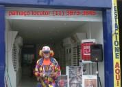 Animação frente de loja inauguração, locução