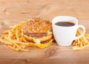 Cafe e hamburgueria