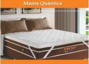 Manta quântica 15 tipos de massagens 1,38 x 1,88
