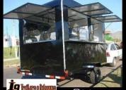 Fabrica de trailer lanche food truck emplacados