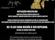 DepilaÇÃo masculina r$ 15,00