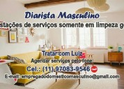 Diarista masculino (11) 9 7083-9546  luiz