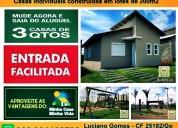 Casas 3qtos 1suite em condominio triandade/go