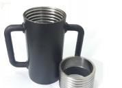 escora metálica caneca rosca p tubo de 57,15 mm