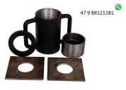 Escora metálica caneca c adaptador p tubos de 44,5