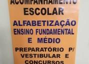Reforço escolar de português / matemática / física