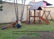 Escorregador infantil playground infantil casinha