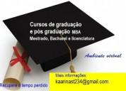 Diploma de graduação e pós e s´paga após receber
