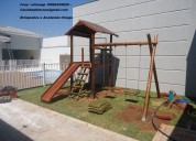 Casinha de tarzan playground infantil escorregador