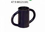 Escora metálica caneca rosca p tubo de 48,30 mm