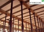 Estronca metálica de aço ajustável p laje 3,90