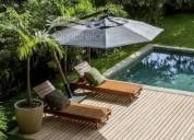 Melhor opção em ombrelones de madeira