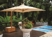 Robustos ombrelones de madeira maciça!