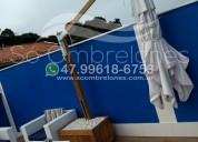 Seu lar decorado com ombrelones giratórios