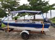 Barco com motor mercury 25 hp e carreta rodoviaria 2010