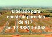 Terreno liberado para construir parcelas a partir de 284