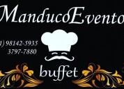 Buffet para eventos sociais e corporativos