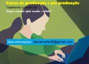 Conclusão de curso de graduação e pg só após receb