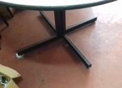 Mesa redonda 120 cm perna de metal